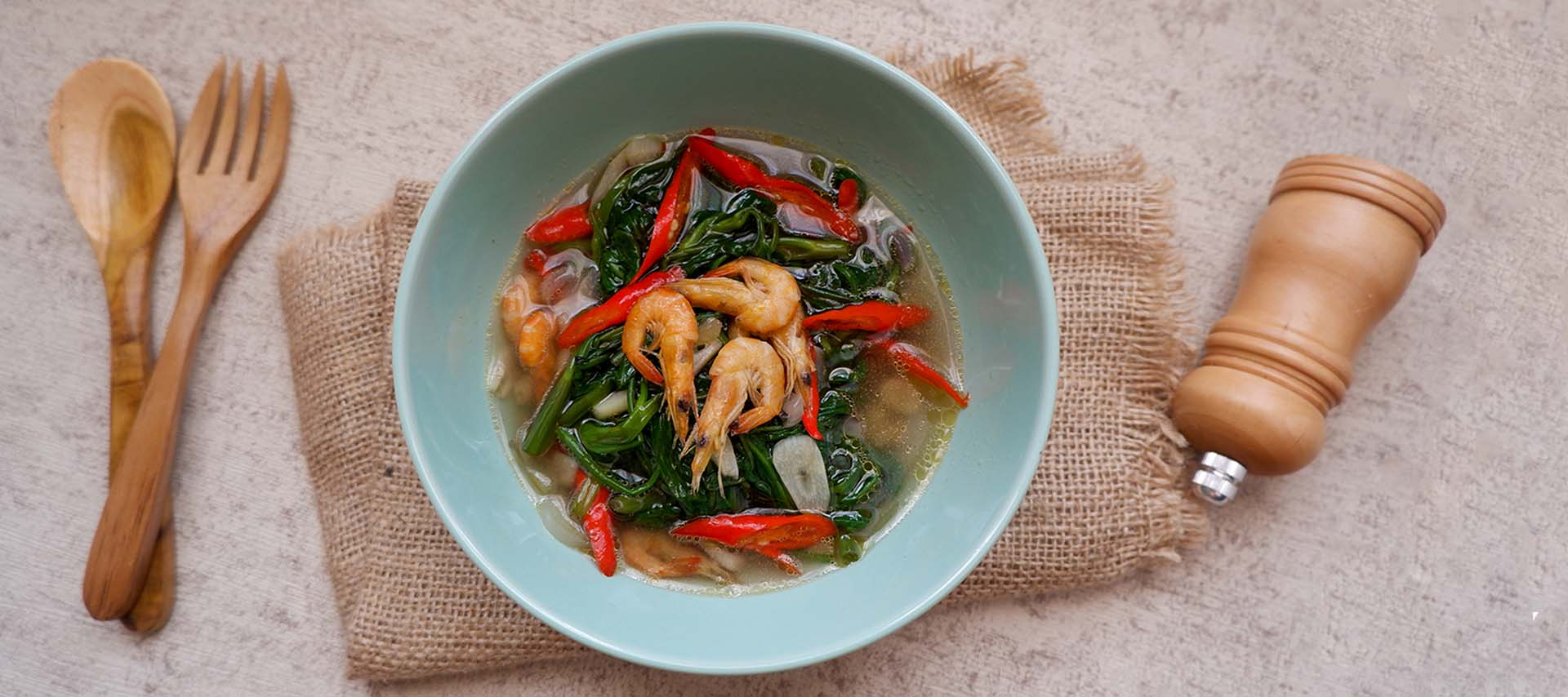 Stir-fry Prawns with Kankun